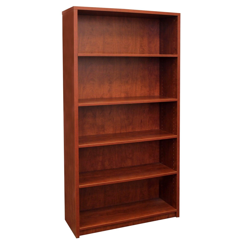 Cherry Laminate Used 5 Shelf Bookcase National Office