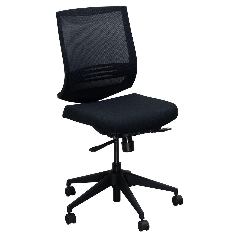 encore used mesh back armless task chair black diamond national office interiors and liquidators. Black Bedroom Furniture Sets. Home Design Ideas