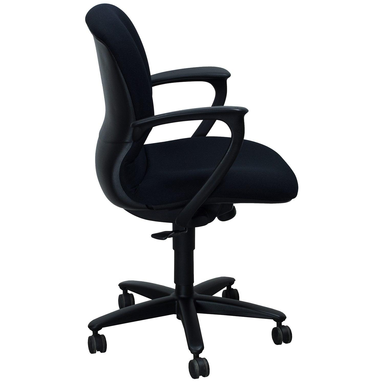 Haworth Improv Reupholstered Used Task Chair Black