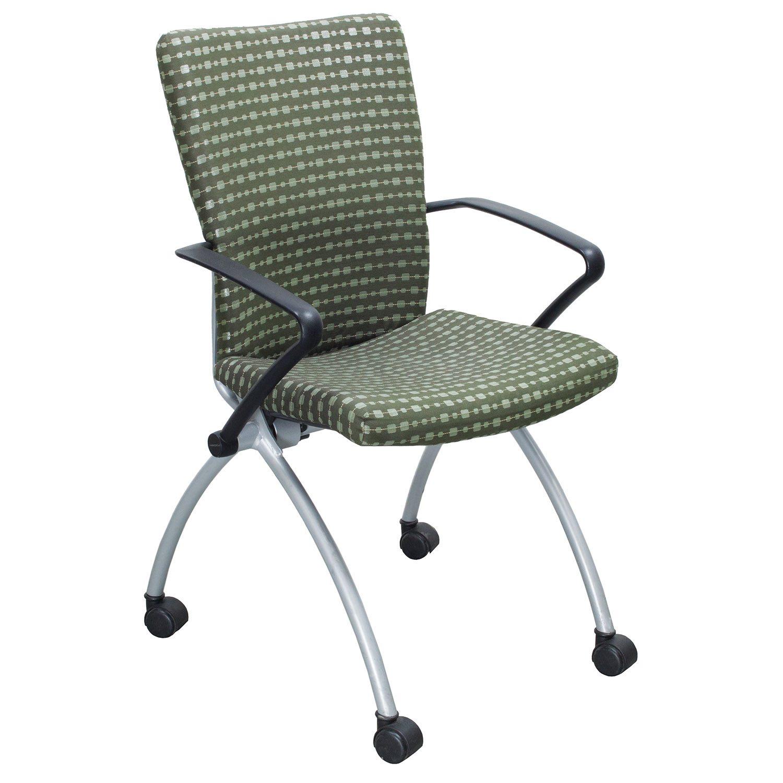 Haworth X99 Seminar Used Nesting Chair Green