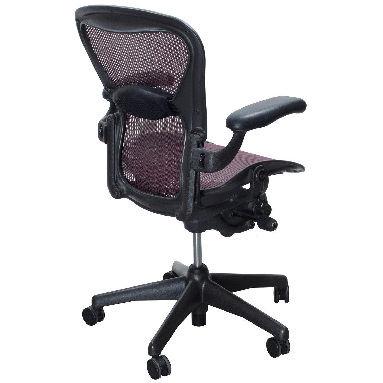 Herman Miller Aeron Used Size B Task Chair Garnet National Office Interior