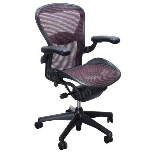herman miller aeron used size b task chair garnet