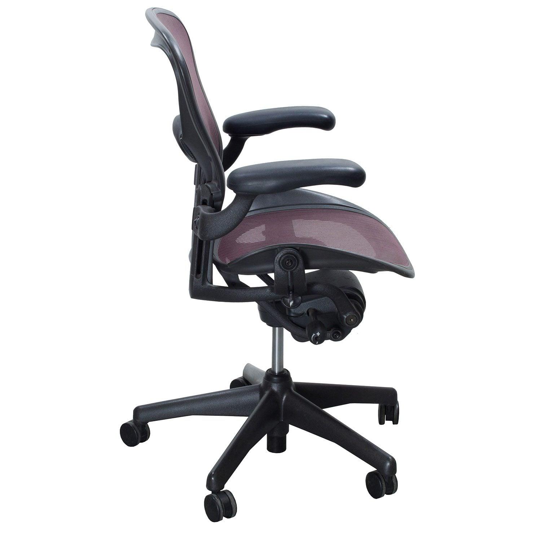 Herman Miller Aeron Used Size B Task Chair, Garnet | National ...