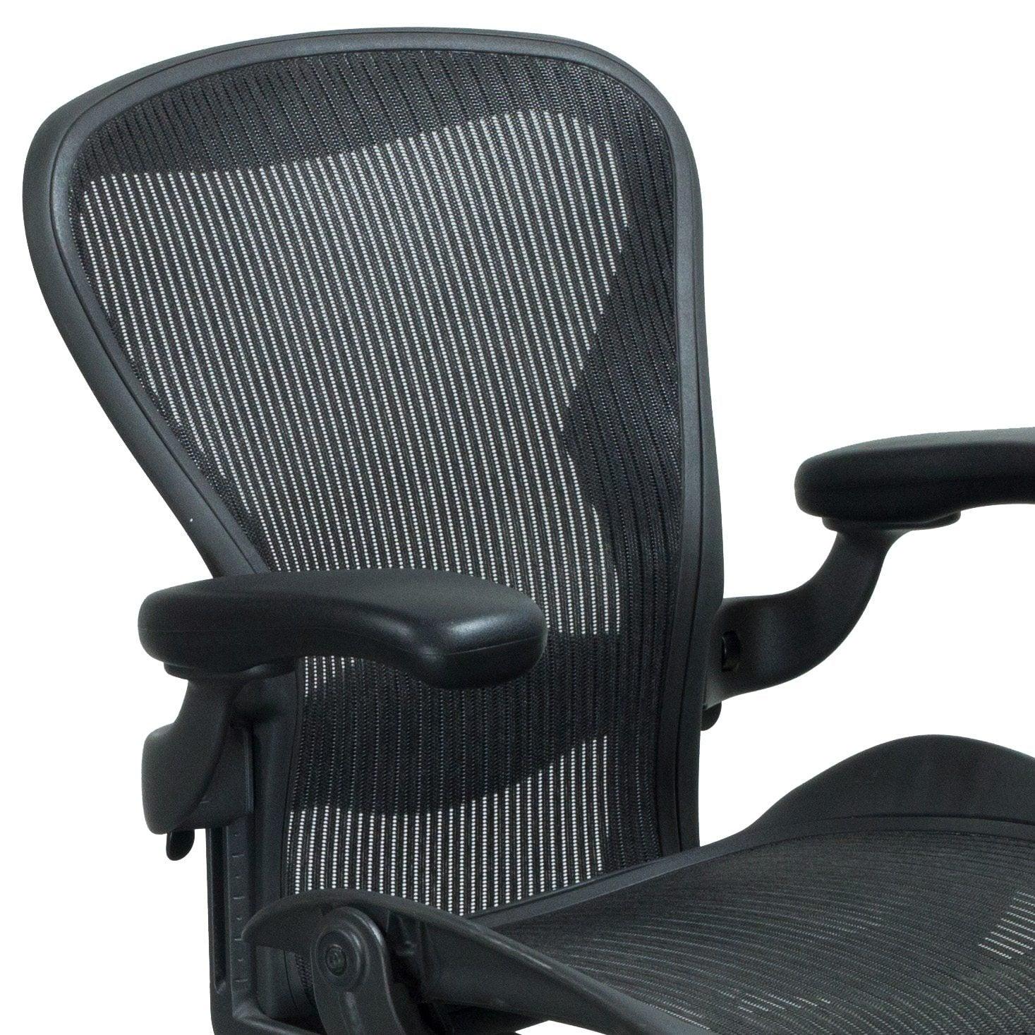 herman miller aeron used size b task chair carbon