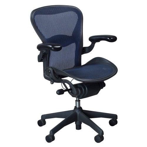 herman miller aeron used size b task chair cobalt. Black Bedroom Furniture Sets. Home Design Ideas