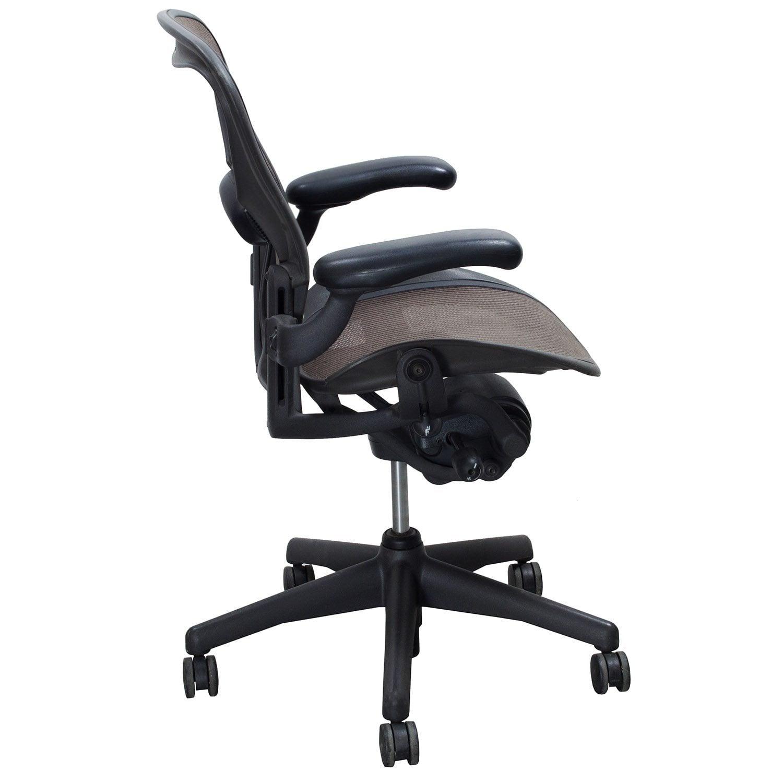 herman miller aeron used size b task chair soapstone brown