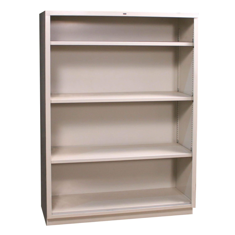 Hon Used Light Gray 4 Shelf Bookcase National Office