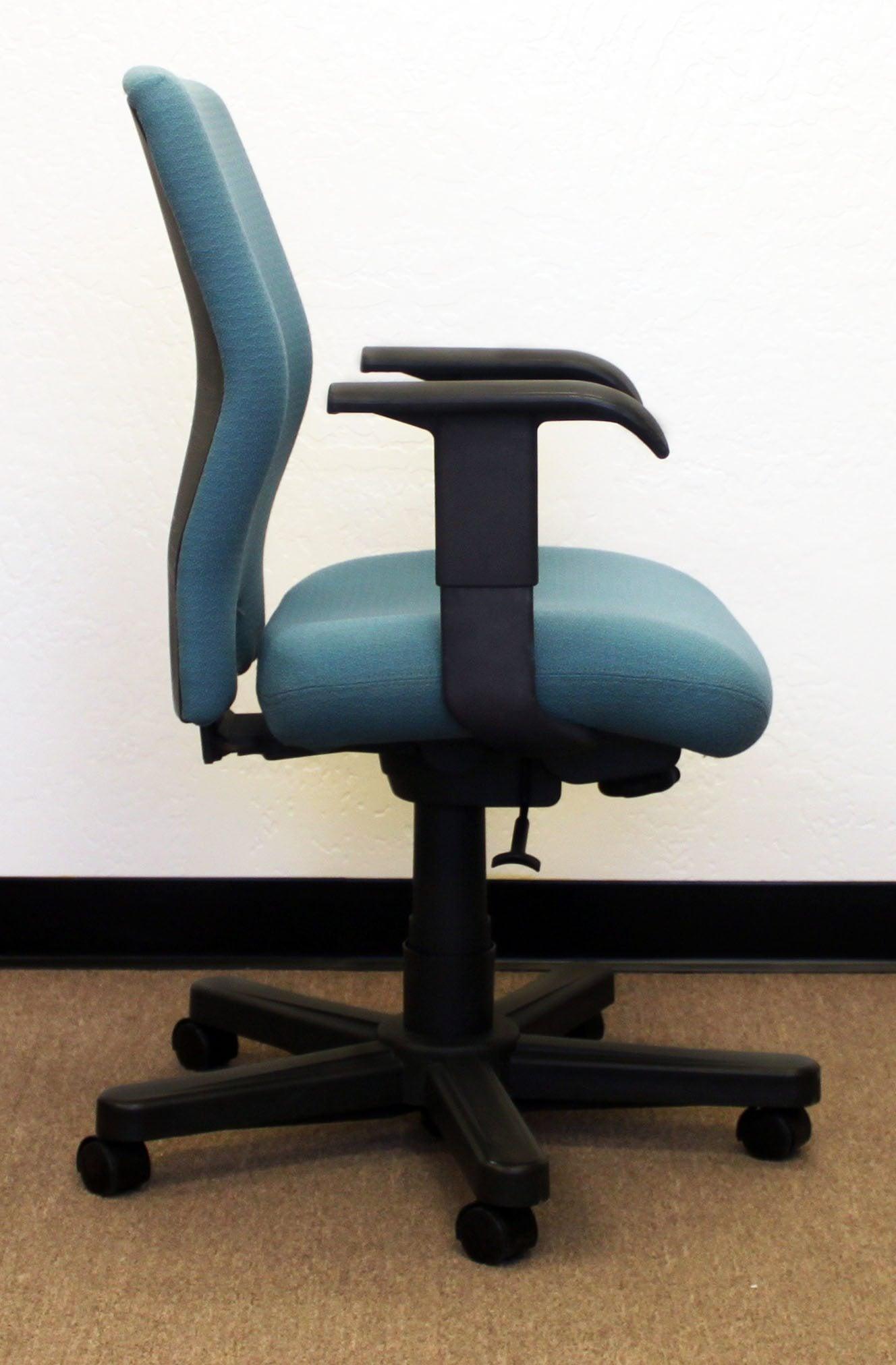Knoll Bulldog Used midback Task Chair Teal