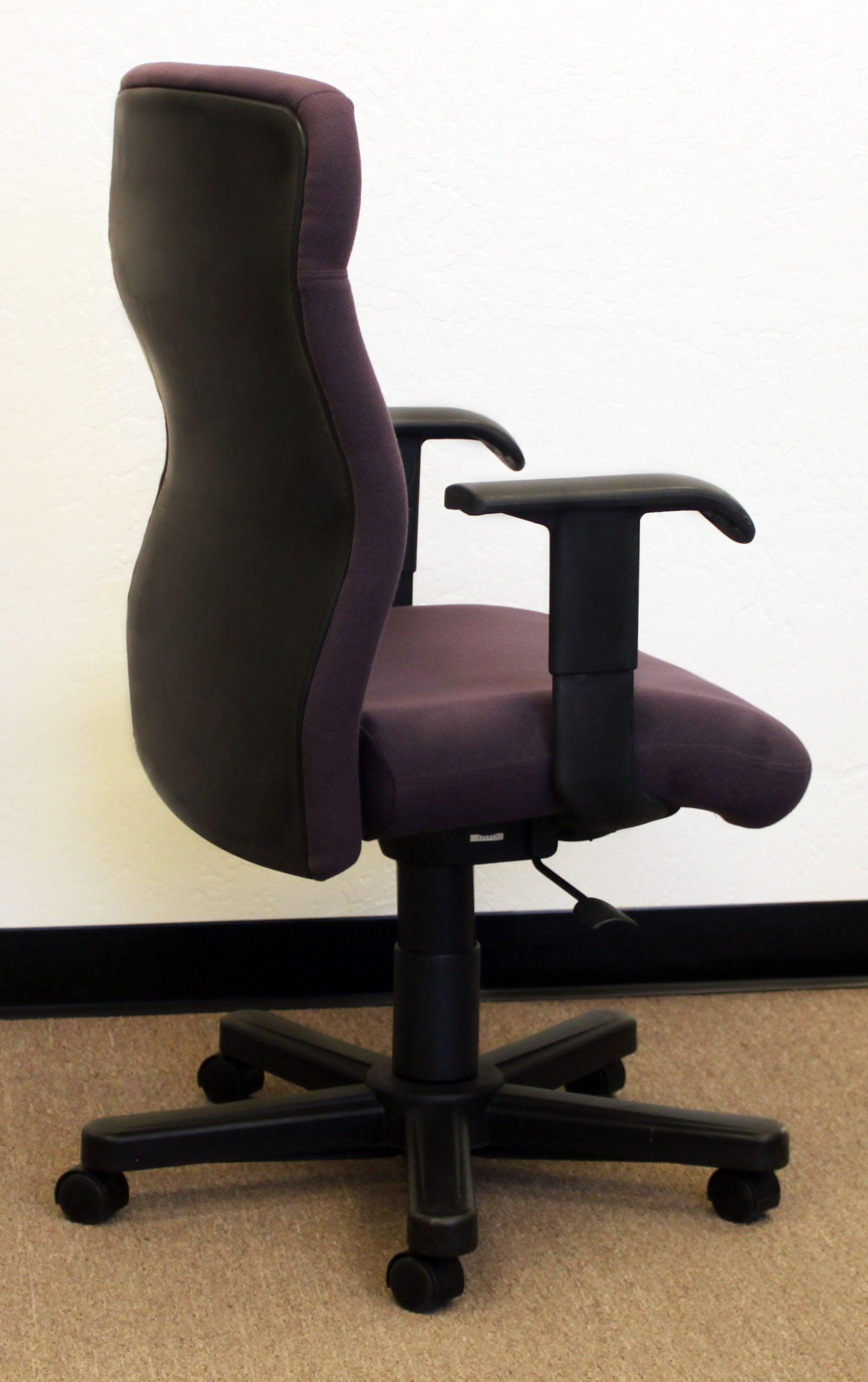 Bulldog Wood Chair ~ Knoll bulldog used highack task chair purple national