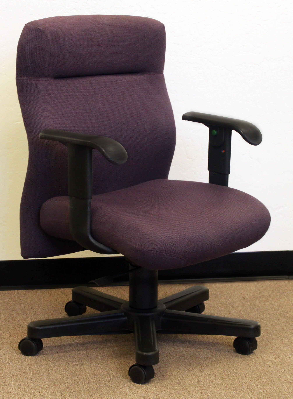 Knoll bulldog used highack task chair purple national