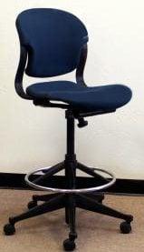 Herman Miller Used Equa Low Stool Blue National Office