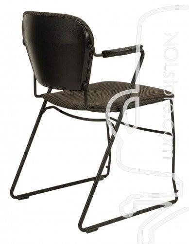 KI Perry Used Stack Chair Brown Stripe