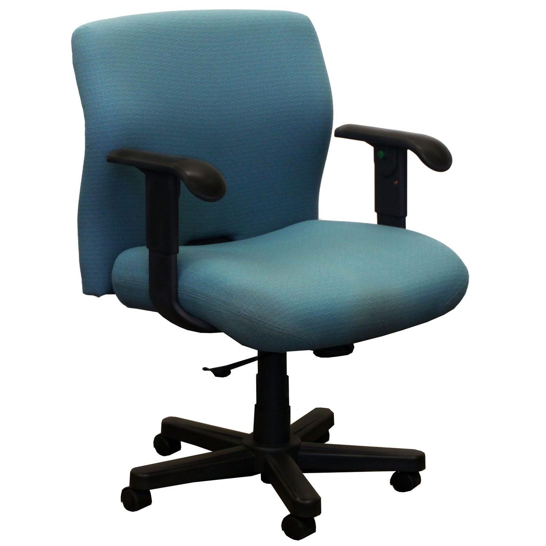 Knoll Bulldog Used Wide Midback Task Chair Teal