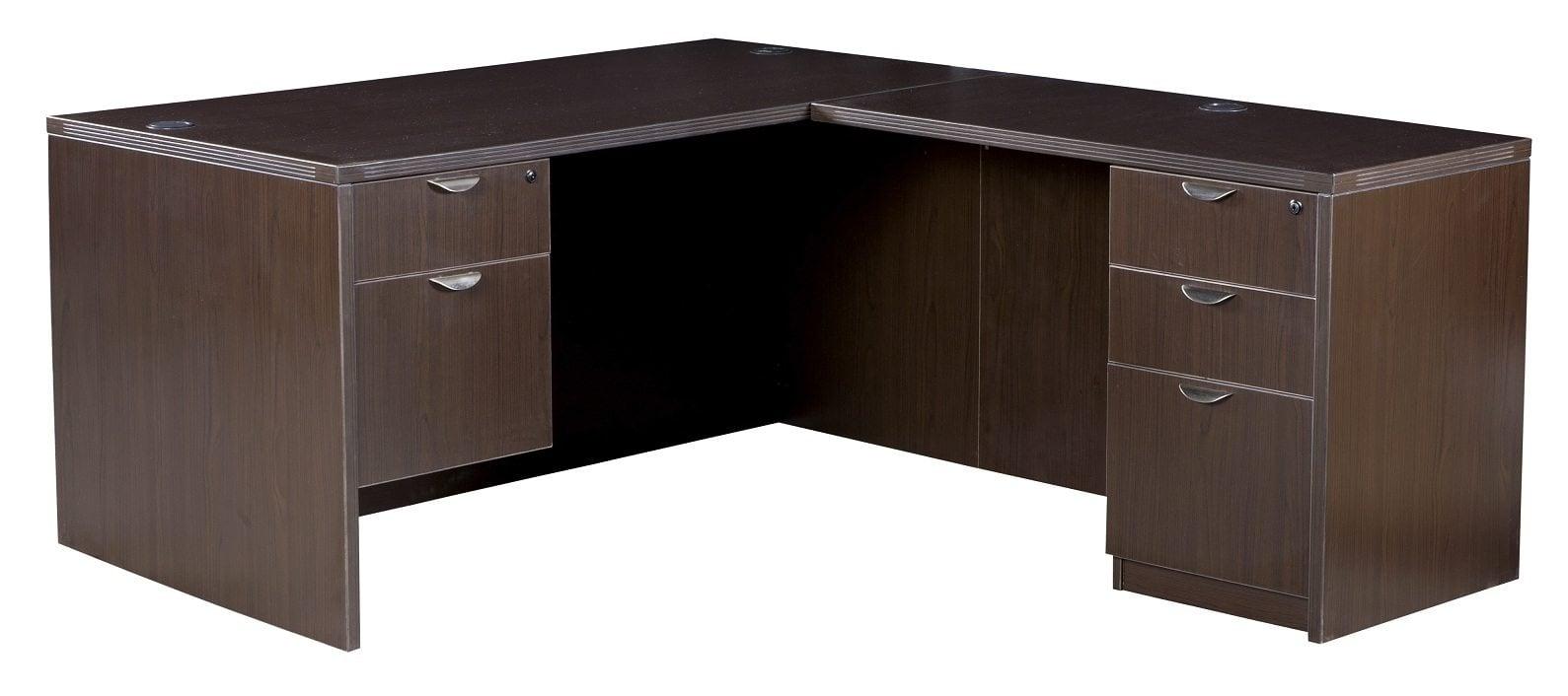0901 New Espresso Laminate 30 215 60 L Shape Desk National