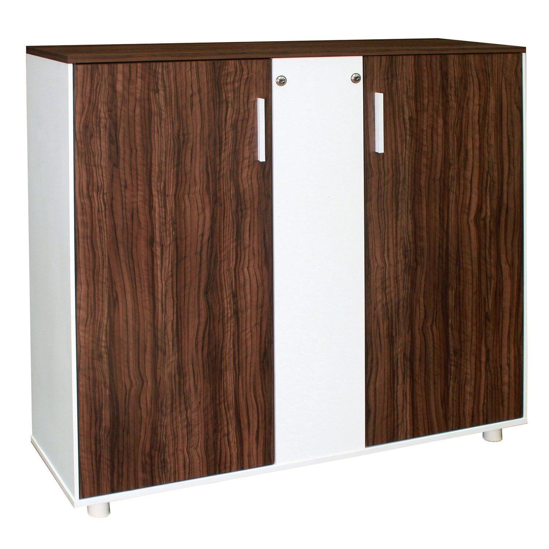 Modern new double door walnut storage cabinet national for New double door