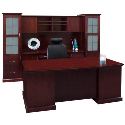 Mahogany Home Library Office: Cambridge Executive Office Set, Mahogany