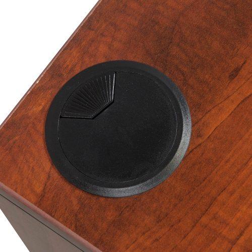 goSIT Everyday Cherry 36x72 Double Pedestal Desk - Grommet