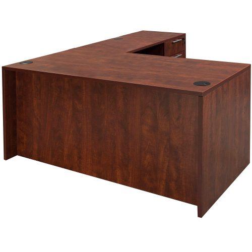 goSIT Everyday Cherry 30x60 L-Shape Desk - Front View