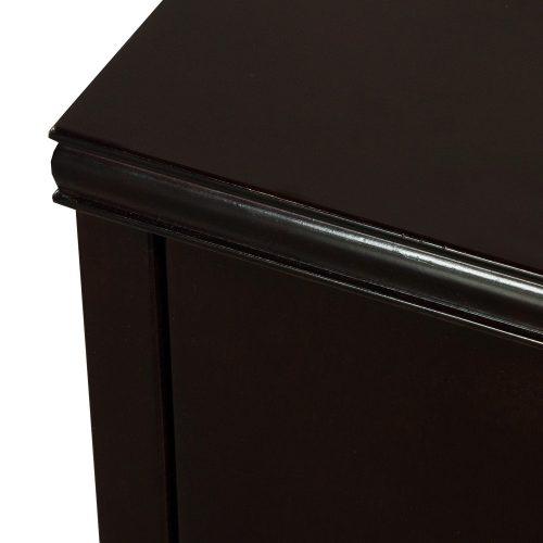 Merlot Double Pedestal Desk - Corner