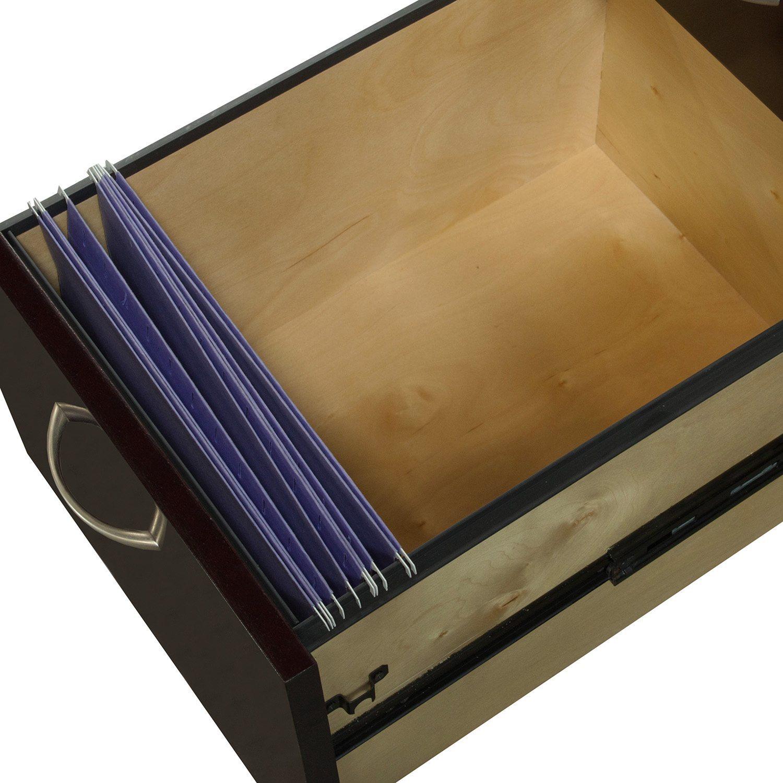 Merlot Double Pedestal Desk - Drawer