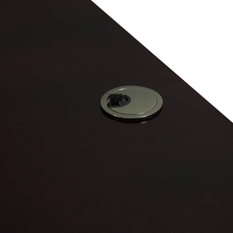Merlot Double Pedestal Desk - Grommet
