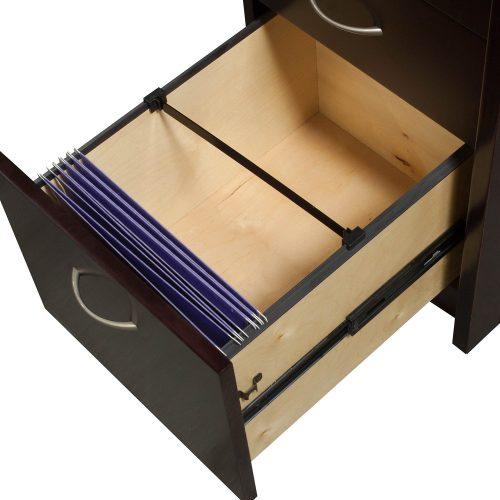 Merlot L-Shape Desk -Filing Front to Back