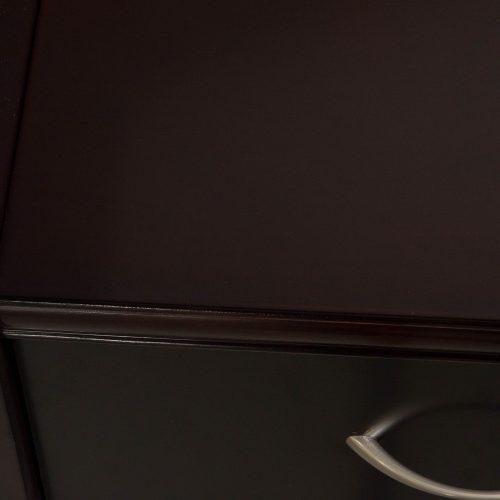 Merlot Reception L-Shape Desk - Edge