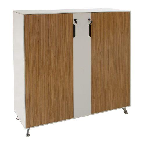 Morgan Double Door Melamine Storage Cabinet Zebra And White