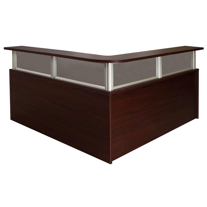 0901 New Mahogany 72 Inch Laminate L Shape Reception Desk