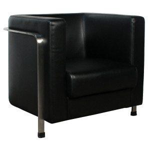 goSIT-Black Leather Club Chair