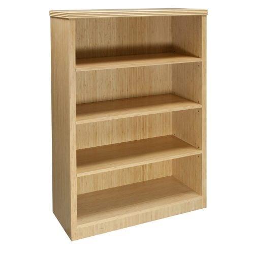 Hollywood-4 shelf-Bookcase-Bamboo-01