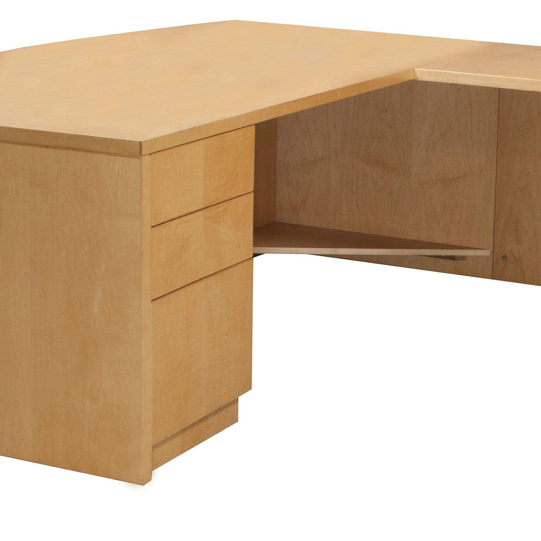 Very Impressive portraiture of Home / Desks / Used Desks / Wood 72 Inch Right Return U Shape Desk  with #9F6D2C color and 1500x1500 pixels