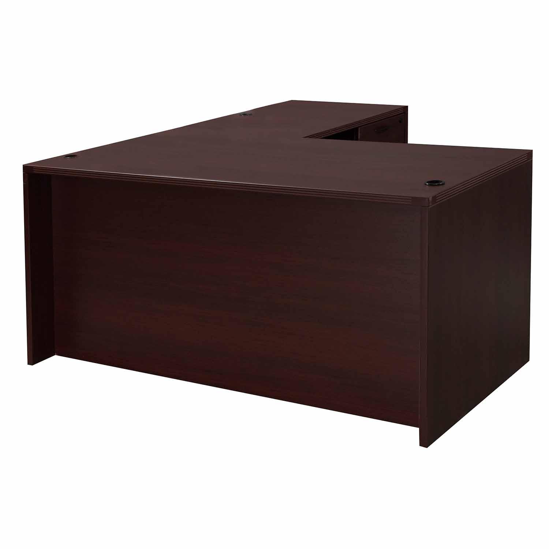 Dmi L Shape Used Desk Laminate Right Return Mahogany
