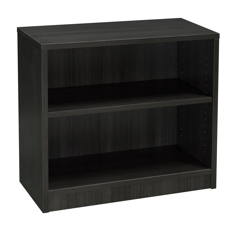 Everyday 30 In 2 Shelf Laminate Bookcase Gray National