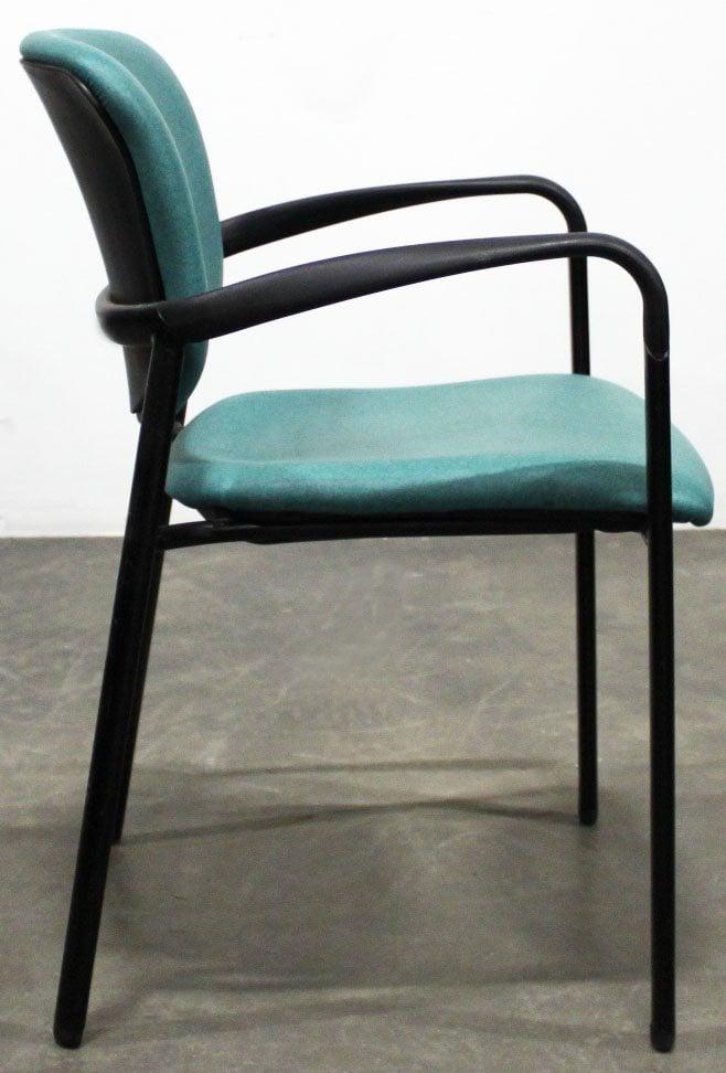 Haworth Improv Used Vinyl Side Chair Teal National