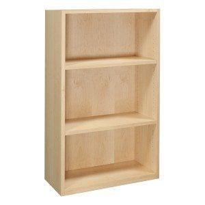 Maple-3 shelf bookcase-01