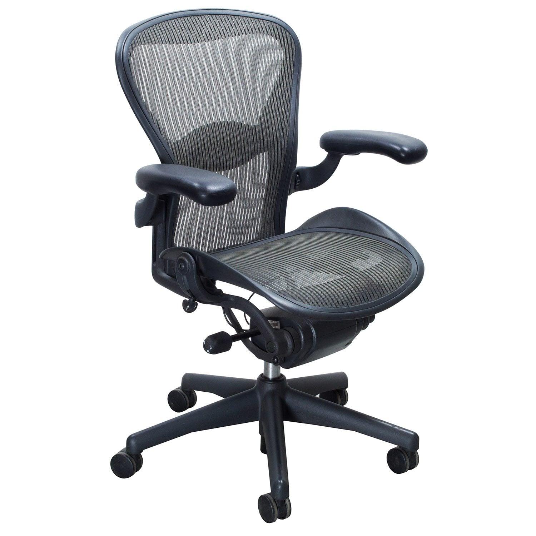 Herman Miller Aeron Used Size B Task Chair Nickel