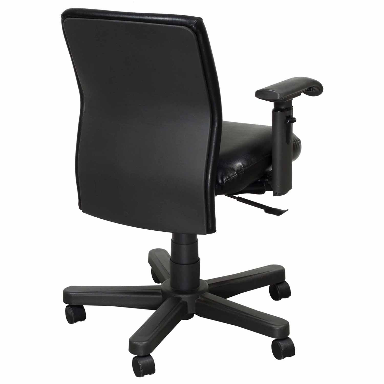 Bulldog Wood Chair ~ Knoll bulldog operational leather chair task black