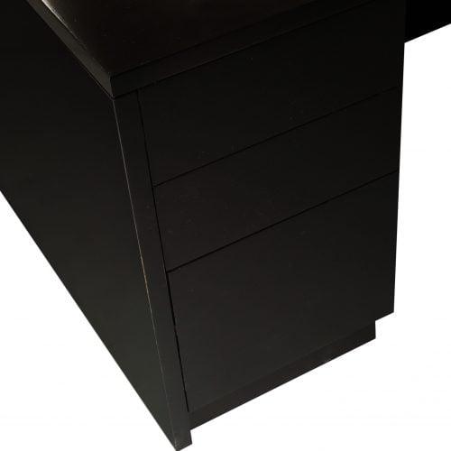 Wood 72 Inch Left Return U Shape Desk Espresso