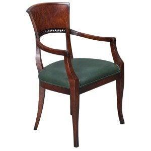 William Switzer-Biedermier-Green Side Chair-01