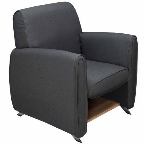 Gosit single seat sofa fabric chair gray national for Grey single chair