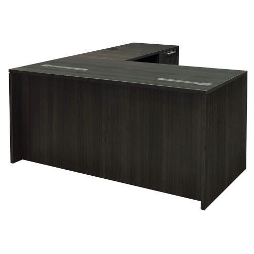 Everyday Plus-Gray-L Shape Desk-NEW GROMMET-02