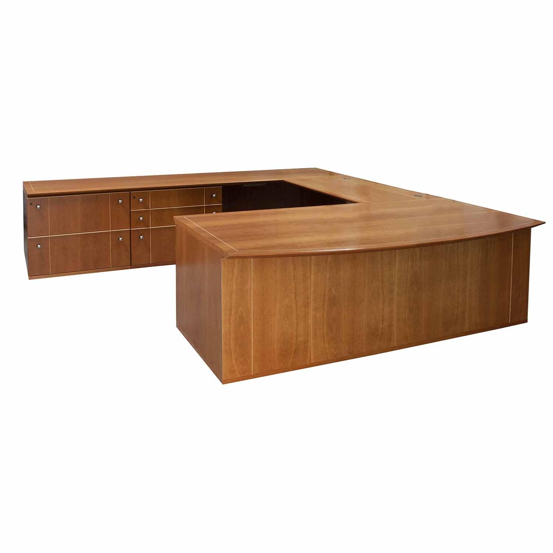 Herman Miller Geiger Triuna Used U Shape Left Return Desk