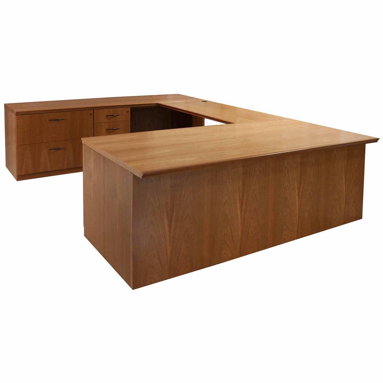 u shaped desk cherry