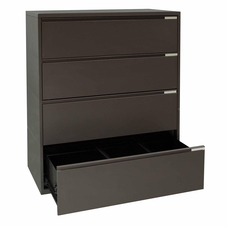 herman miller meridian used 4 drawer 42 inch  medium tone