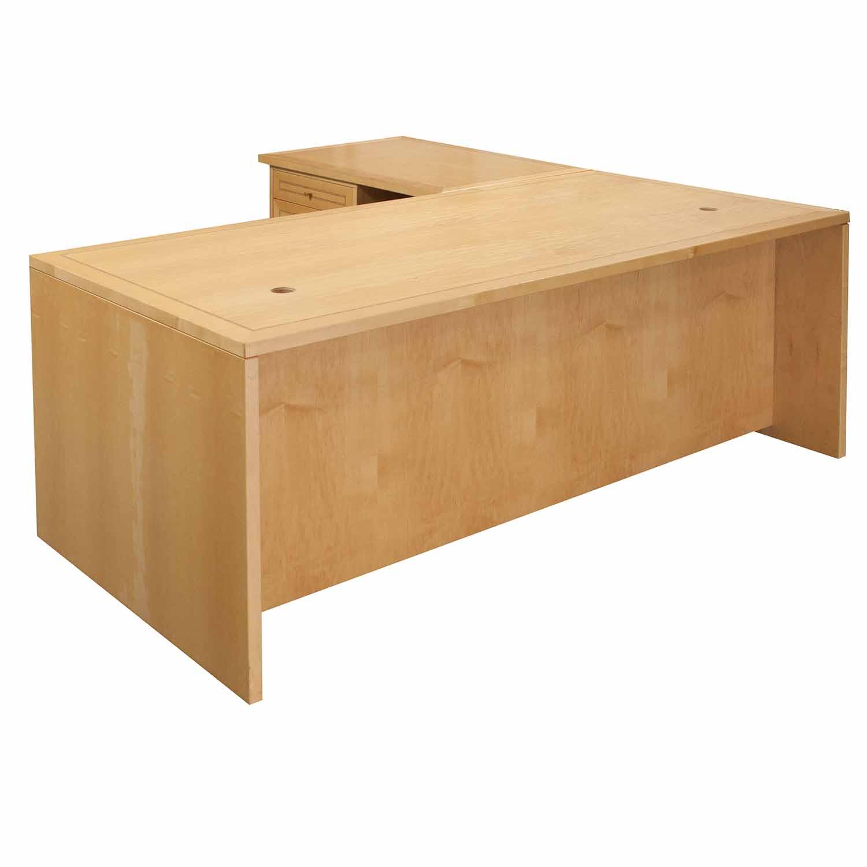 Jesper Used Left Return 3471 L Shape Desk Maple