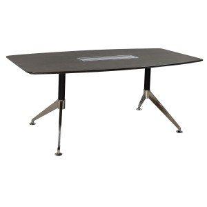 Morgan-Gray Veneer-2 Base Conference Table-01