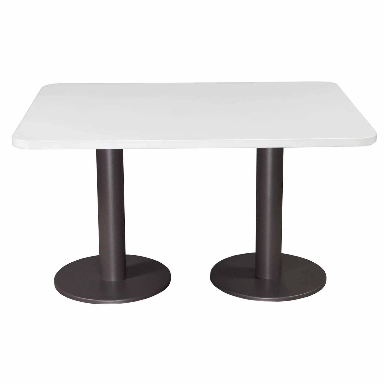 steelcase used coalesse bix two base table, white | national