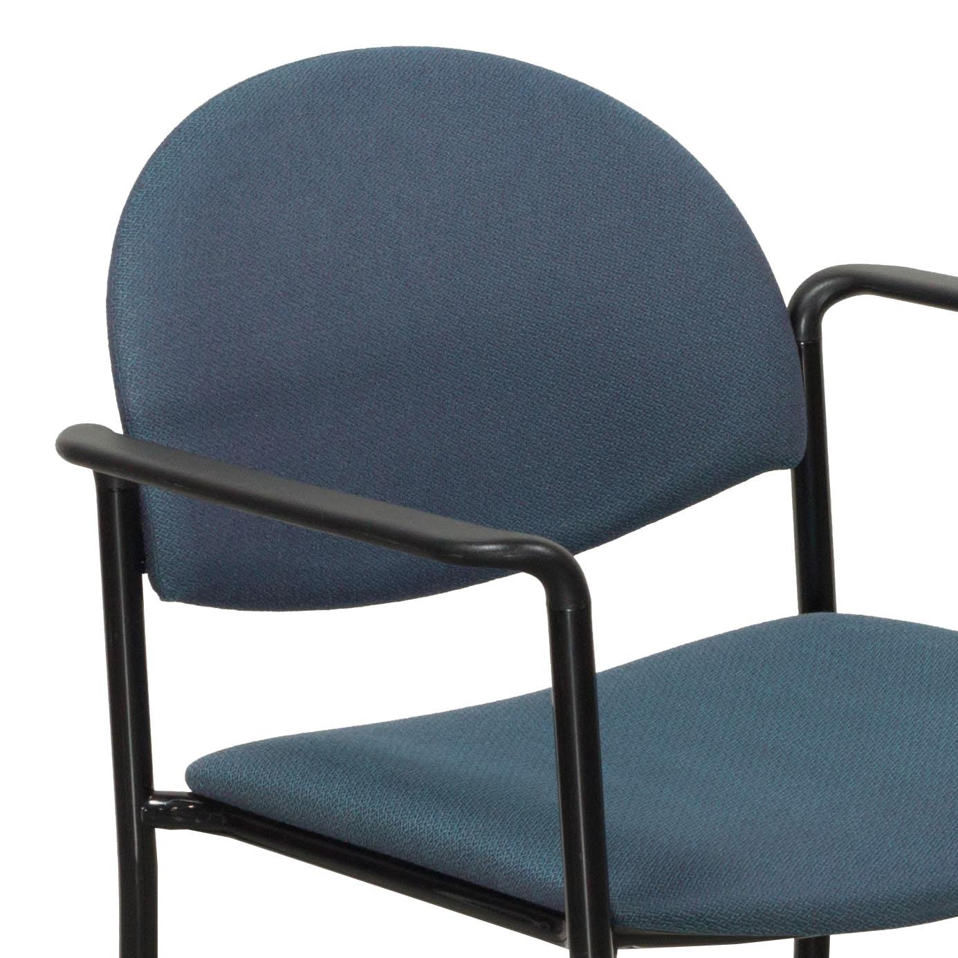 KI Versa Used Stack Chair Blue Tweed