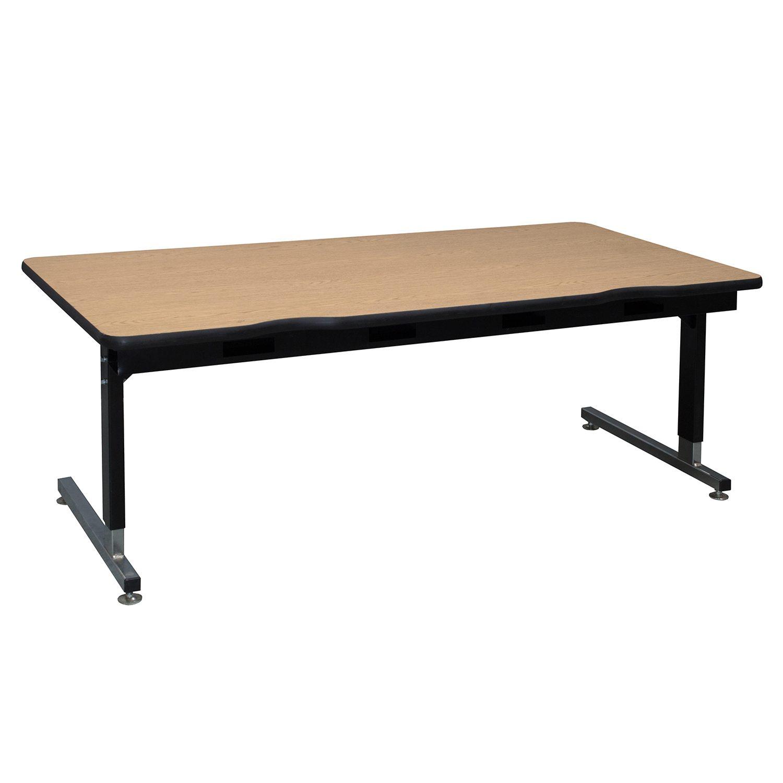Medium Oak-School Table-24x60-01
